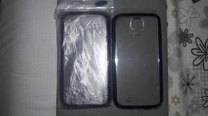 2 Forro Goma Negro Samsung S4 Grande