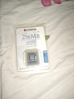 Tarjeta Memoria Mini Sd Kinston Original 256 Mb Con Sd