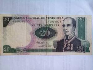 Billete De 20 Bolivares