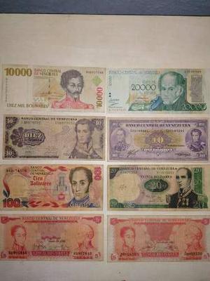 Coleccion De Billetes Venezolanos