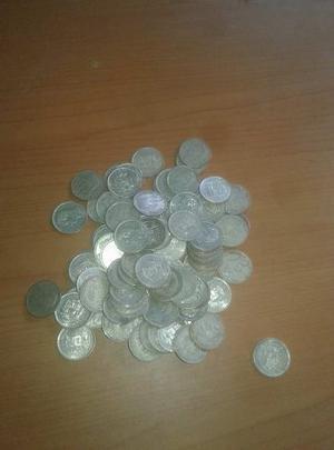 Lote De Monedas De Plata De 1 Bolívar 91 Unidades