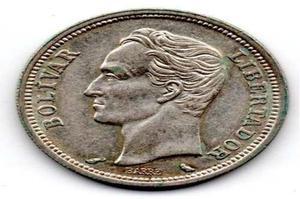 Moneda De Colección Bolívar De Plata