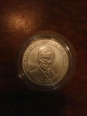 Moneda De Plata 100 Bolivares. Jose Maria Vargas