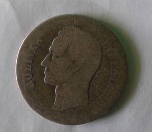 Moneda De Plata De 2 Bolivares