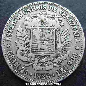 Moneda De Plata  De 5 Bs Fuerte