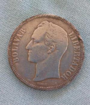 Moneda De Venezuela Fuerte De Plata Año  Ley 900