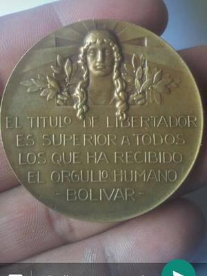 Moneda Del Centenario Del Libertador