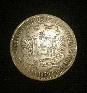 Moneda Fuerte De Plata De .muy Buen Estado.