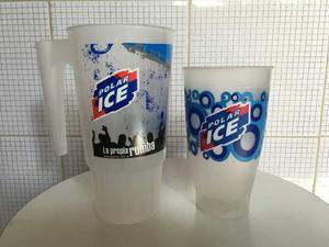 Vendo Jarra Cervecera Plástica Y Vaso Plástico Polar Ice