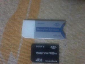 Memory Stick Duo Pro Duo 8gb Psp Cybert Shot Con Adaptador