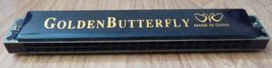 Armonica Golden Butterfly De 48 Huecos