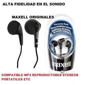 Audifonos Maxell Stereo Ear Promo