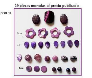 Dijes Y Tiras De Nacar, Plasticos Para Bisuteria