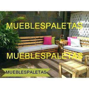 Juego De Muebles En Madera De Pino + Bases Acolchadas