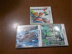 Juegos Para 3ds Mariokart7,asphalt3d Y Green Lantern