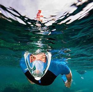 Máscara De Snorkel De Cara Completa Para Buceo Superficial