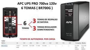 Ups Apc 700va 6 Tomas Br700g Lcd Garantia Nuevo Bagc