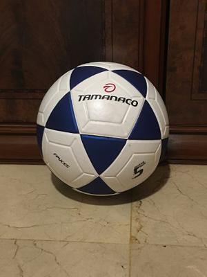 Balón De Fútbol Tamanaco N 5 Blanco Con Azul Original