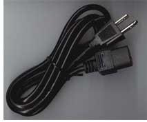 Cable Corriente Fuente De Poder Color Negro