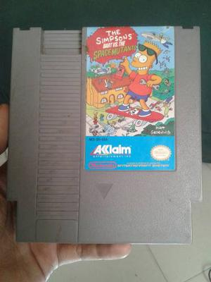 ¡oferta! Juego De Nintendo Nes Original The Simpsons