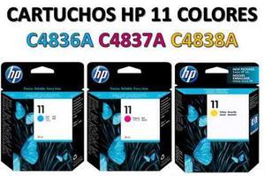 Cartuchos De Impresora Hp 11 Ca, Ca, Ca Original
