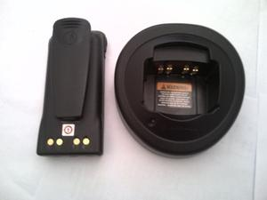 Batería Pila Con Base De Cargador Radio Motorola Pro