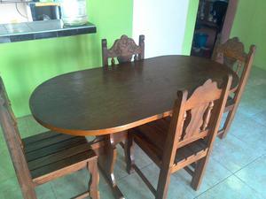 Juego comedor 4 sillas posot class for Comedor redondo 4 sillas