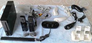 Oferta Nintendo Wii Chipeado Virtual Con Muchos Accesorios