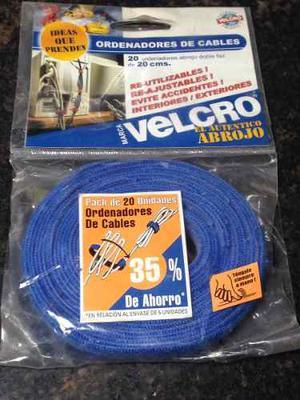 Ordenadores De Cables Velcro Pack De 20 Unidades Redes, Pcs