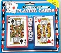 2 Juegos De Cartas De Poker Estilo Las Vegas Dados-plastic