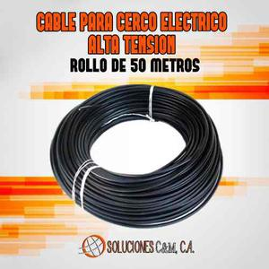 Cable Para Cerco Eléctrico Alta Tensión 50 Metros