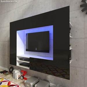 Centro De Entretenimiento Moderno Minimalista Con Luz Tv
