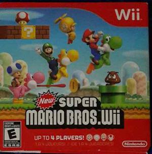 Juego Super Mario Bros Para Wii Original