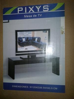 Mesa De Tv Marca Pixys Color Wengue