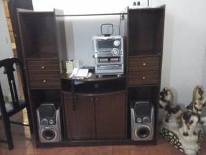 Mueble De Madera Para Equipo De Sonido