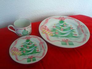 Platos De Navidad Vajilla 8 Puestos