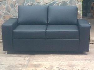 Sofa De 2 Puesto Tela Bipiel