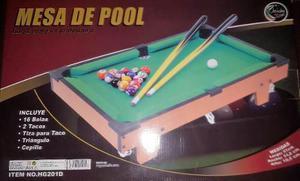 Juego De Mesa De Pool Nueva Para Niños Importada Completa