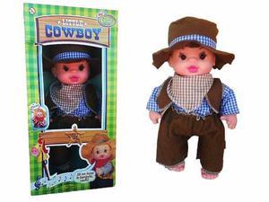Muñeca Little Cowboy Celia Niñas Juguete Sonido 40cm