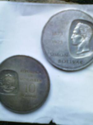 Monedas De Plata Simon Bolivar Leer Descripcion