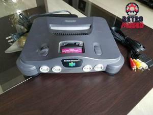 Nintendo 64 Con Fuente De Podee Y Cable De Video