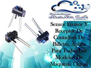 Sensor Emisor Y Receptor O Diodo 3y5mm Contadora De Billetes