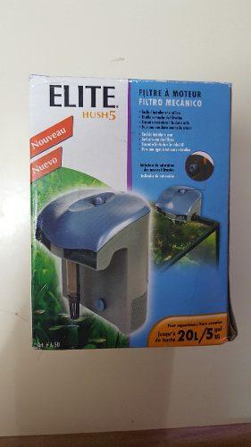 Filtro Tipo Cascada Para Pecera Elite Hush 5 20 Litros