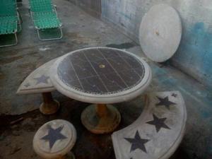 Mesas De Jardin En Concreto Y Ceramica