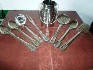 Set de cinco 5 piezas de utensilios para la cocina posot for Utensilios de cocina de aluminio