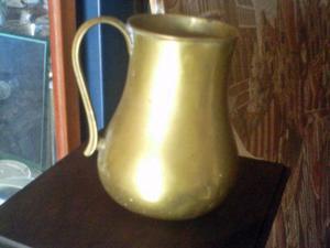Chocolatera De Bronce Antigua Tiene Una Altura De 15cms Un L