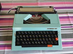Maquina De Escribir Manual Omega 40