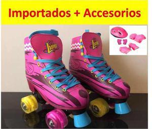 Patines Soy Luna Importados + Kit De Protección + Obsequio