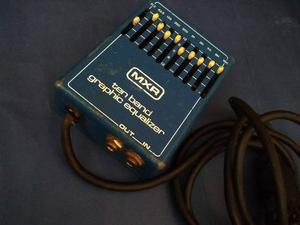 Pedal Mxr Equalizador De 10 Bandas 110.v Guitarra O Bajo