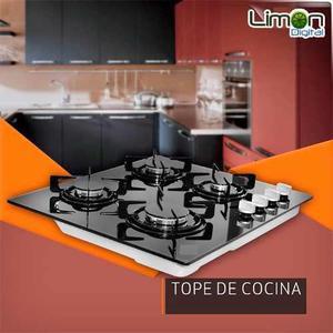 Tope De Cocina 4 Hornillas 60cm Vitroceramica De Lujo